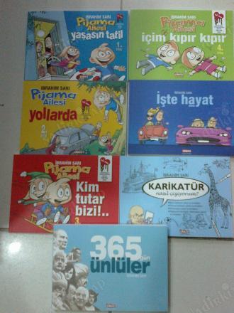 Pijama Ailesi Karikatur Egitim Ve Eglence Seti 7 Kitap Boyama Ve