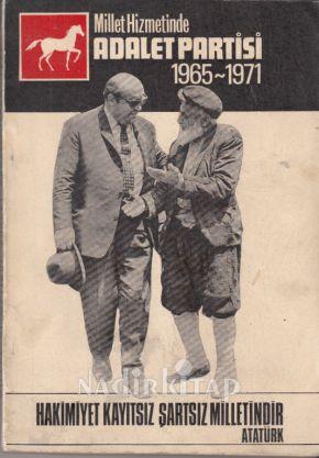 millet hizmetinde adalet partisi 1965 1971 yayin kurulu nadir kitap