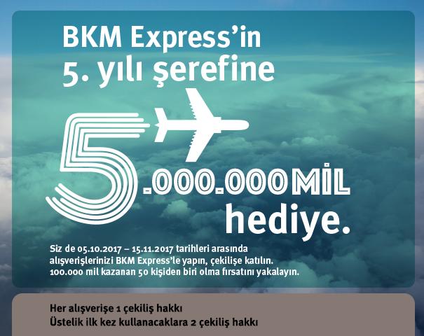 BKM Express Mil Çekilişi